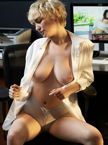 Skye Blue Teasing In The Office